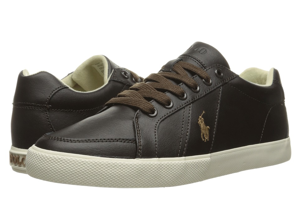 Polo Ralph Lauren - Hugh (Brown Action Leather) Men's Lace up casual Shoes