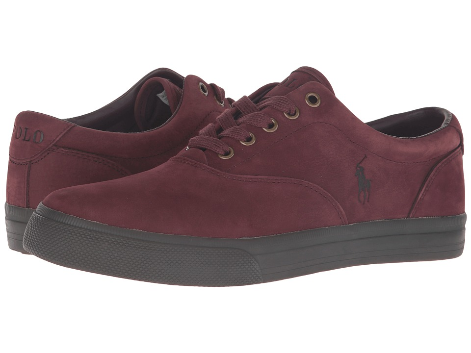 Polo Ralph Lauren Vaughn (Port/Nicotine Silky Nubuck) Men