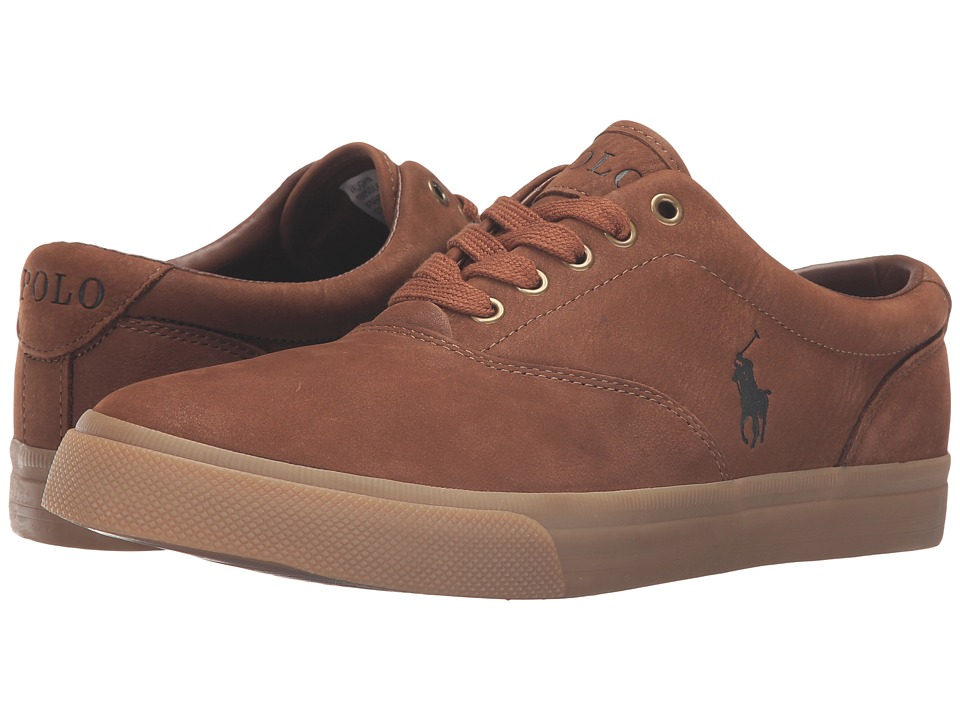 Polo Ralph Lauren - Vaughn (Snuff/Gum Silky Nubuck) Men's Lace up casual Shoes