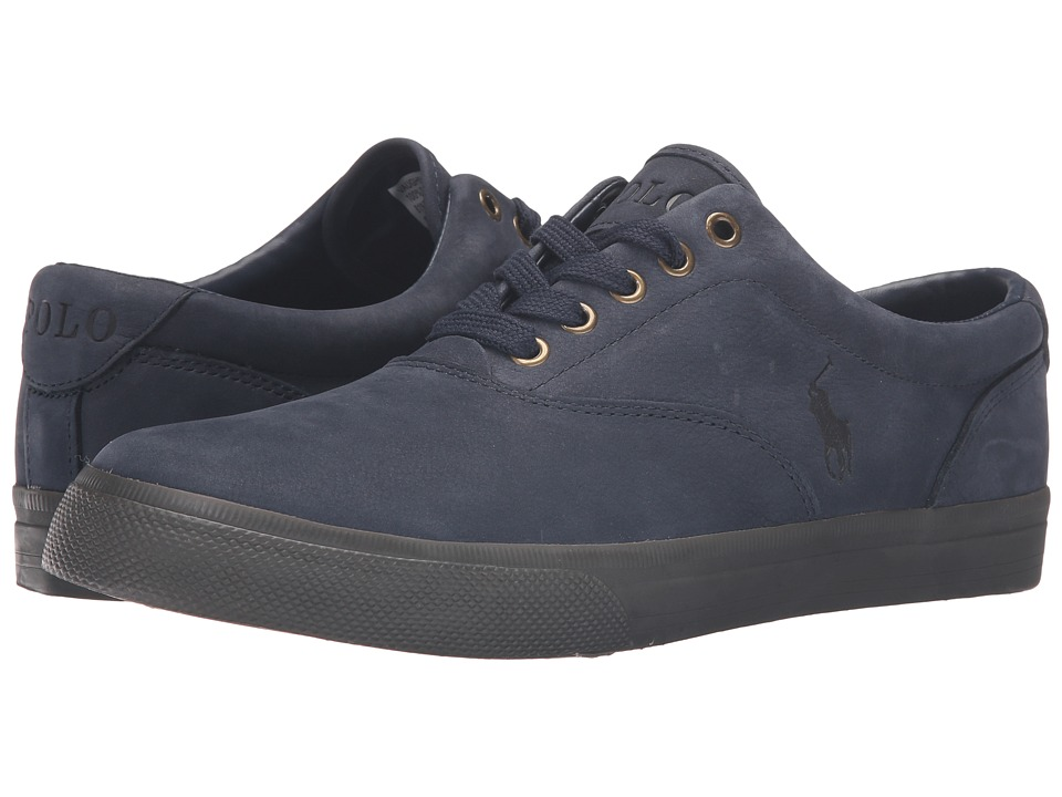 Polo Ralph Lauren - Vaughn (Navy/Nicotine Silky Nubuck) Men's Lace up casual Shoes