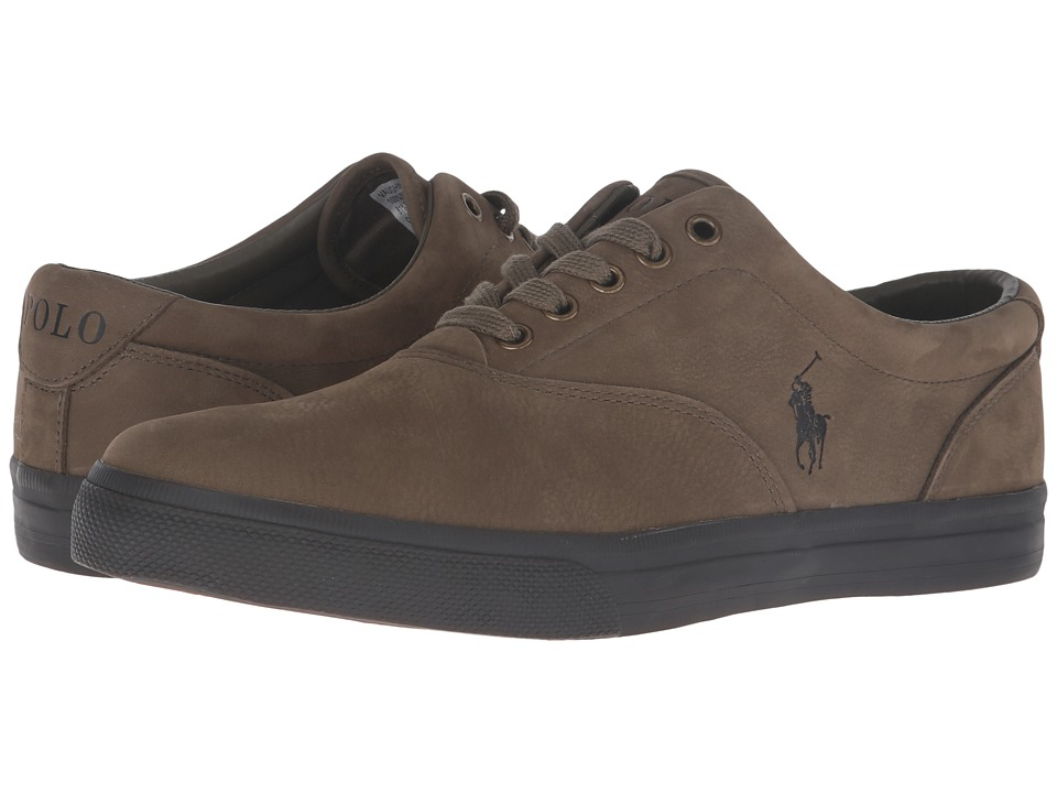 Polo Ralph Lauren - Vaughn (Olive/Nicotine Silky Nubuck) Men's Lace up casual Shoes