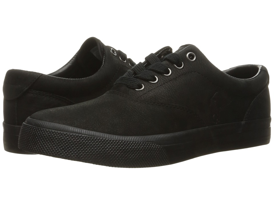 Polo Ralph Lauren - Vaughn (Black Silky Nubuck) Men's Lace up casual Shoes