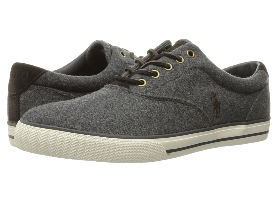 Polo Ralph Lauren - Vaughn (Grey Solid Flannel) Men's Lace up casual Shoes