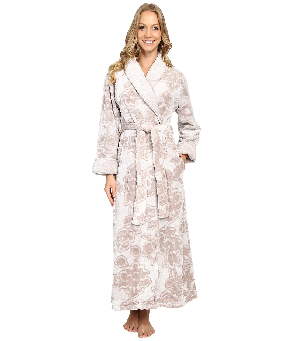 Natori - Damask Robe (Natural) Women's Robe