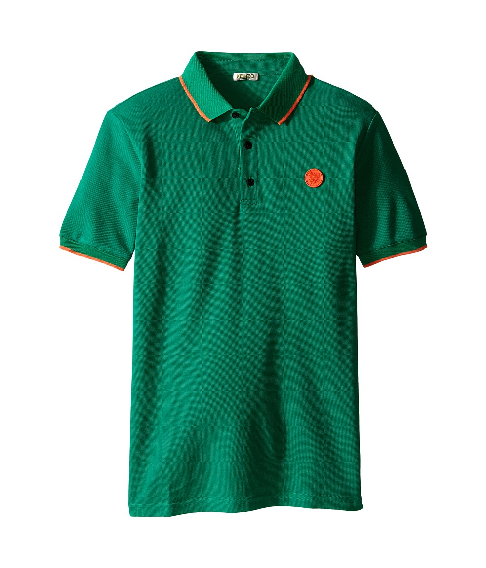 Kenzo Kids - Asto Polo (Big Kids) (Light Green) Boy's Clothing