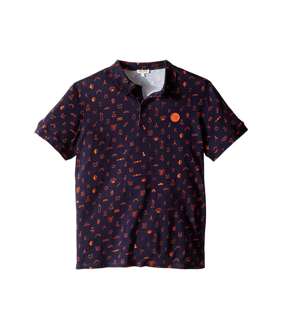 Kenzo Kids - Angelo Polo (Big Kids) (Navy) Boy's Clothing