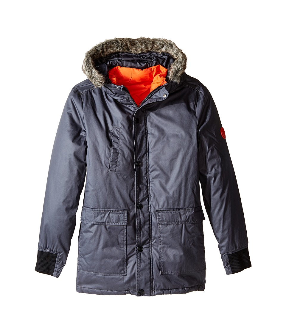 Kenzo Kids - Ace Jacket (Big Kids) (Dark Grey) Boy's Coat