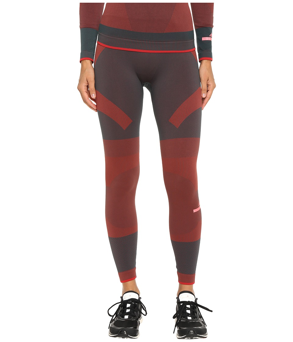adidas by Stella McCartney - Essentials Seamless Tights AX7346 (Cherry Wine/Solid Grey) Women's Casual Pants