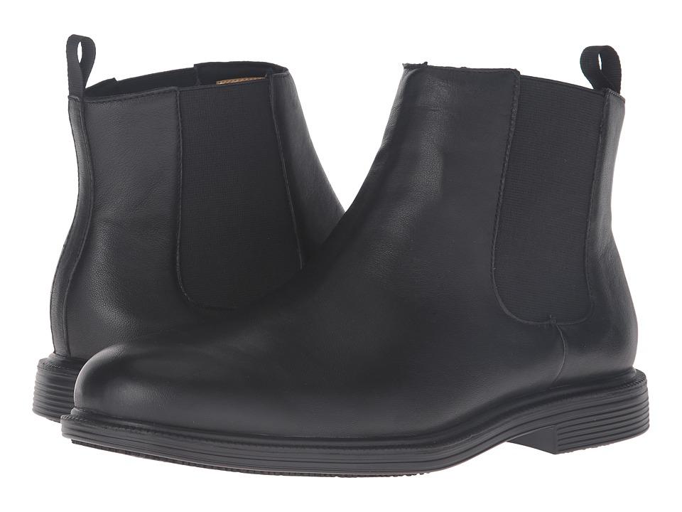 SKECHERS Work - Gretna - Chambliss (Black Leather) Men's Pull-on Boots