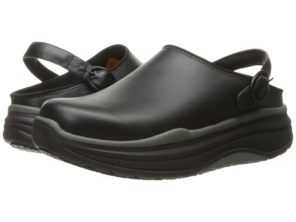 SKECHERS Work - Cheriton - Aledo (Black Leather) Women's Lace up casual Shoes