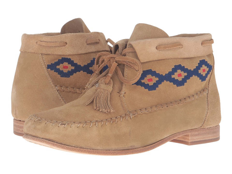 Soludos - Moccasin Bootie (Stone Suede) Women's Boots