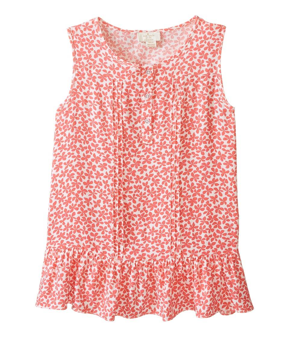 Kate Spade New York Kids - Pleated Top (Little Kids/Big Kids) (Jungle Vine) Girl's Clothing
