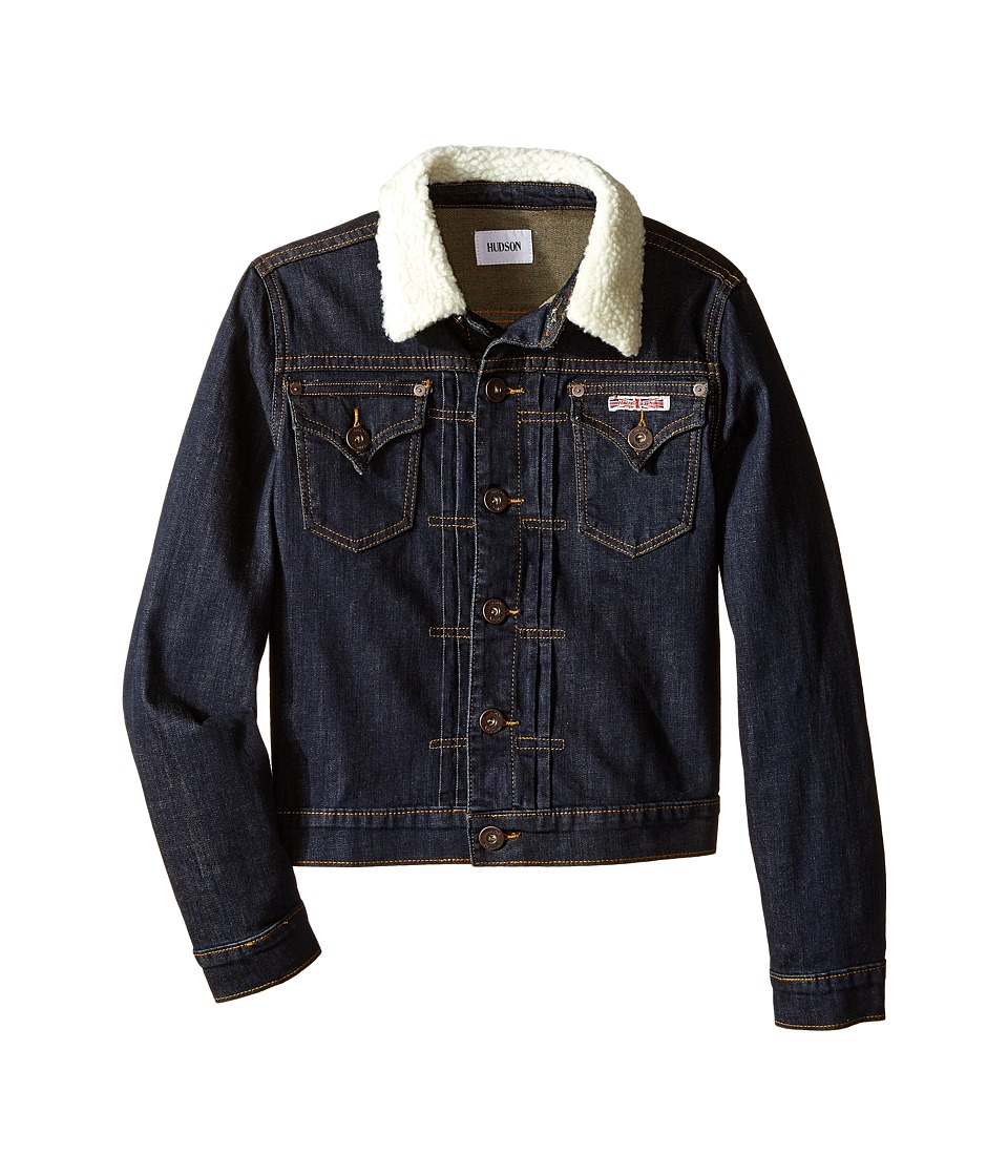 Hudson Kids - Denim Jacket with Sherpa Collar (Big Kids) (Rinse/Low Octane) Boy's Coat