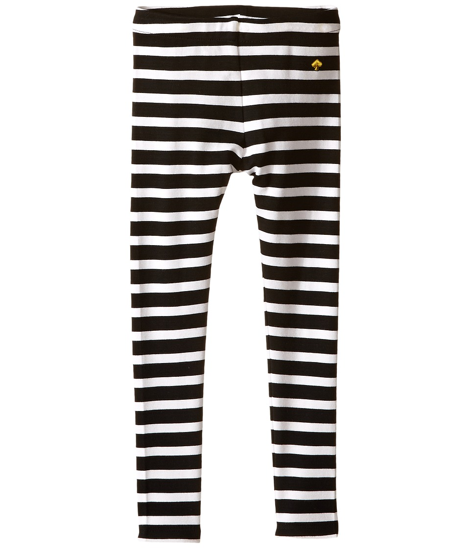 Kate Spade New York Kids - Stripe Leggings (Toddler/Little Kids) (Black/Cream) Girl's Casual Pants