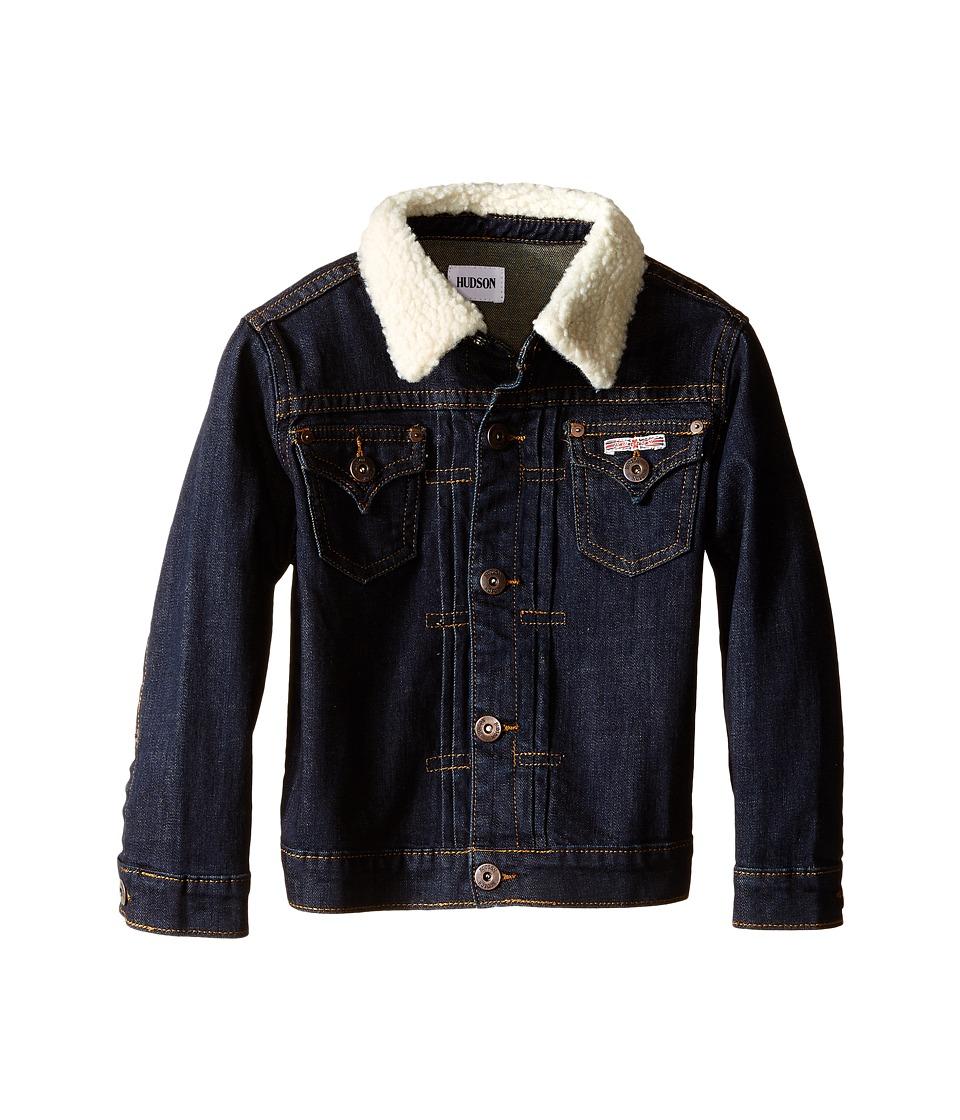 Hudson Kids - Denim Jacket with Sherpa Collar (Toddler/Little Kids) (Rinse/Low Octane) Boy's Coat