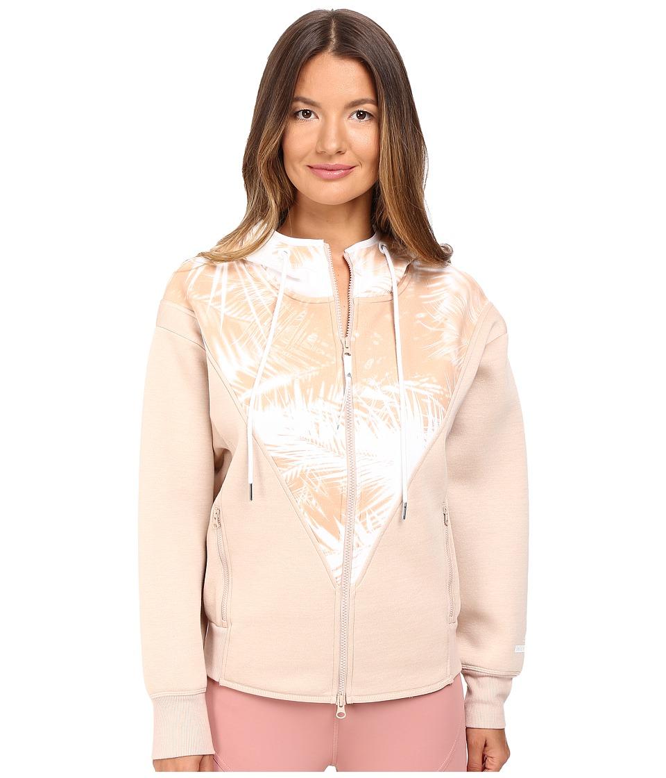 adidas by Stella McCartney - Studio Palm Hoodie AX7038 (Nude Rose/White) Women's Sweatshirt