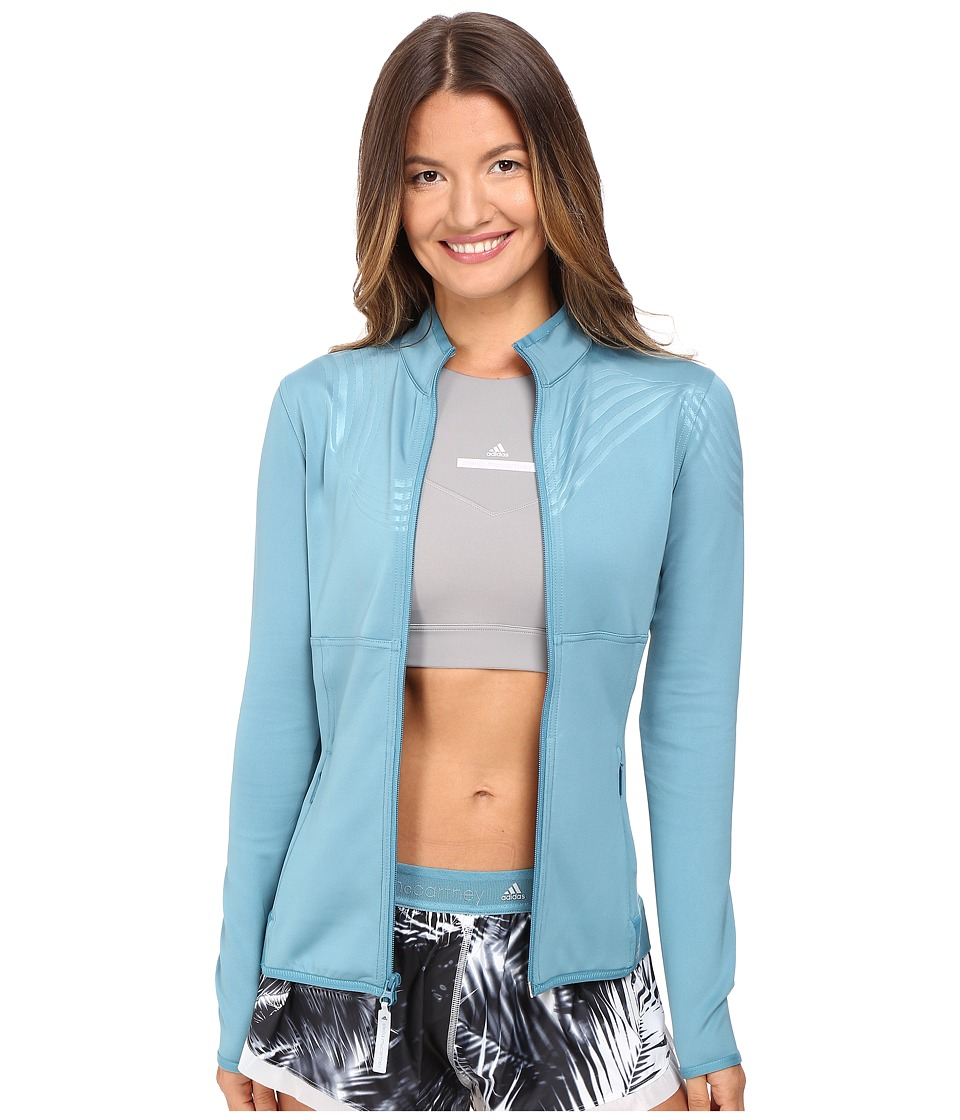 adidas by Stella McCartney - The Clima Midlayer AX7119 (Harbour Blue) Women's Coat