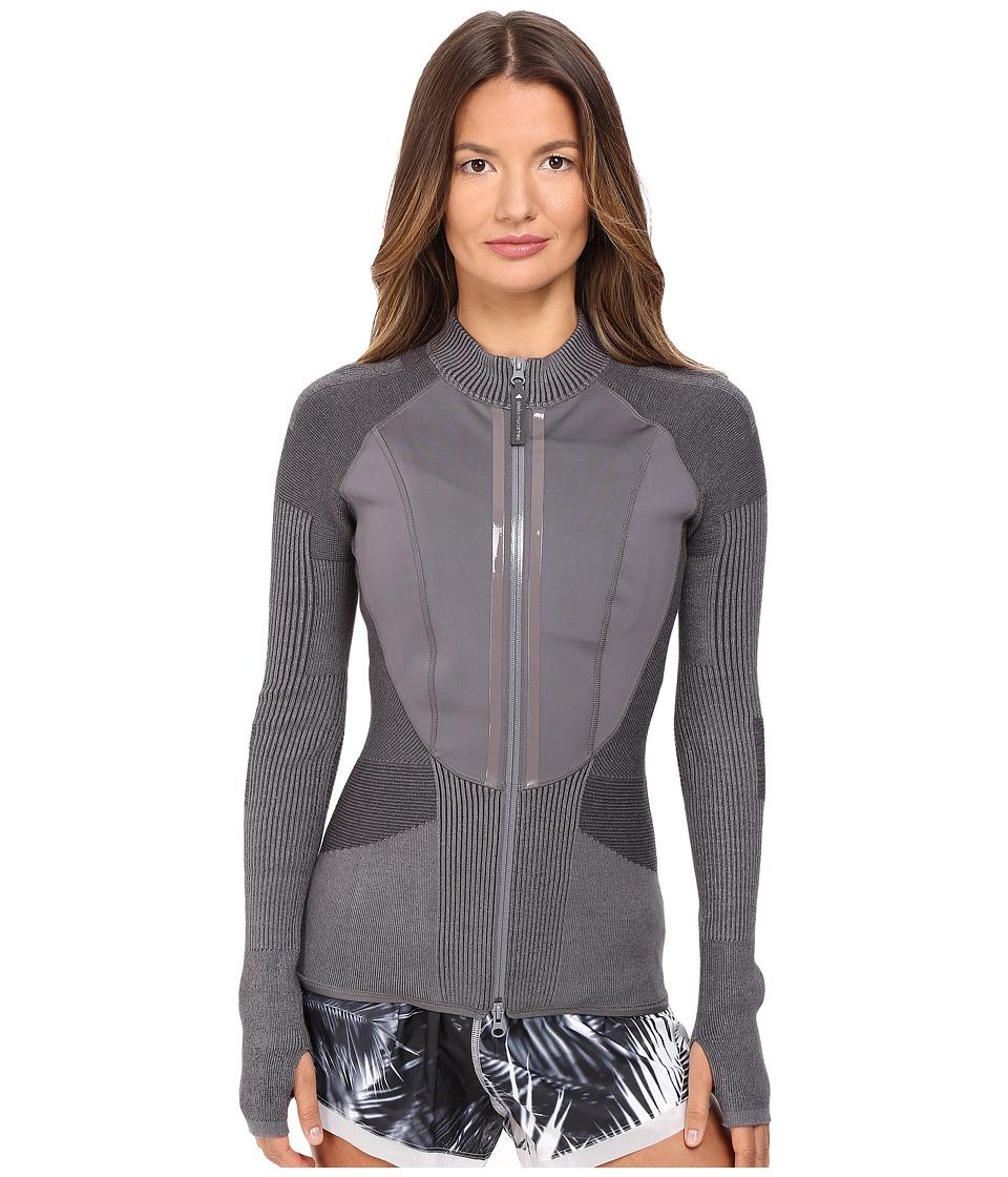 adidas by Stella McCartney - Run Engineered Knit Jacket AX7118 (Granite) Women's Coat