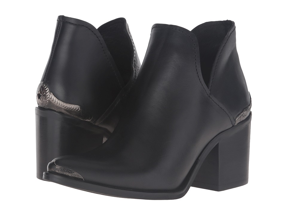 Steve Madden - Posey (Black Leather) Women's Shoes