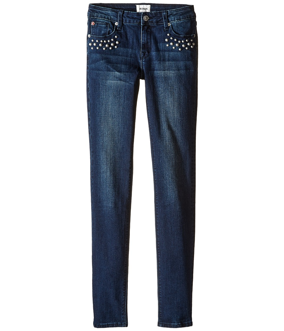 Hudson Kids - Dolly Skinny Five-Pocket with Studs in Blue Blood (Big Kids) (Blue Blood) Girl's Jeans