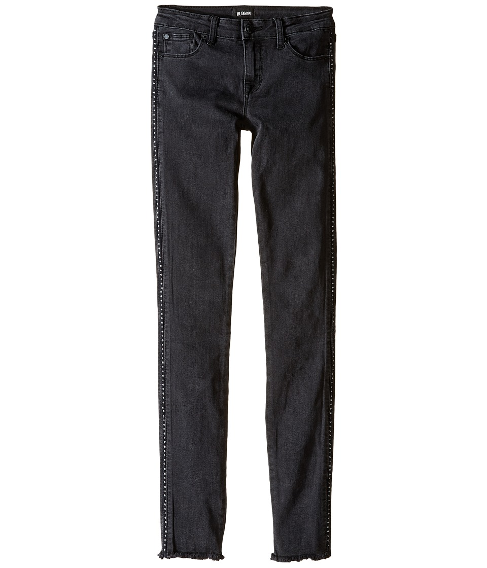 Hudson Kids - Bling Skinny Five-Pocket Studded Skinny with Fray Hem in Ash (Big Kids) (Ash) Girl's Jeans