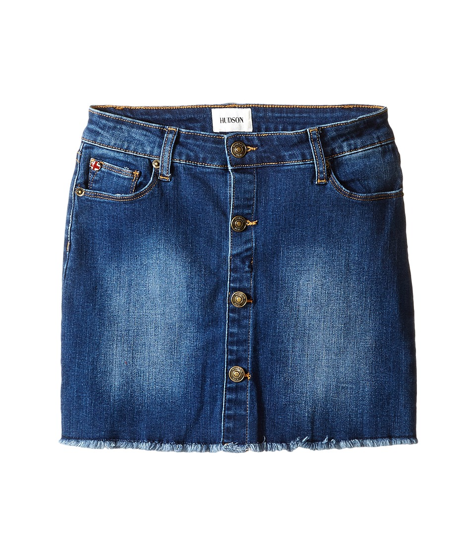 Hudson Kids - Cammy Five-Pocket A-Line Skirt (Big Kids) (Dark Indigo Sand) Girl's Skirt