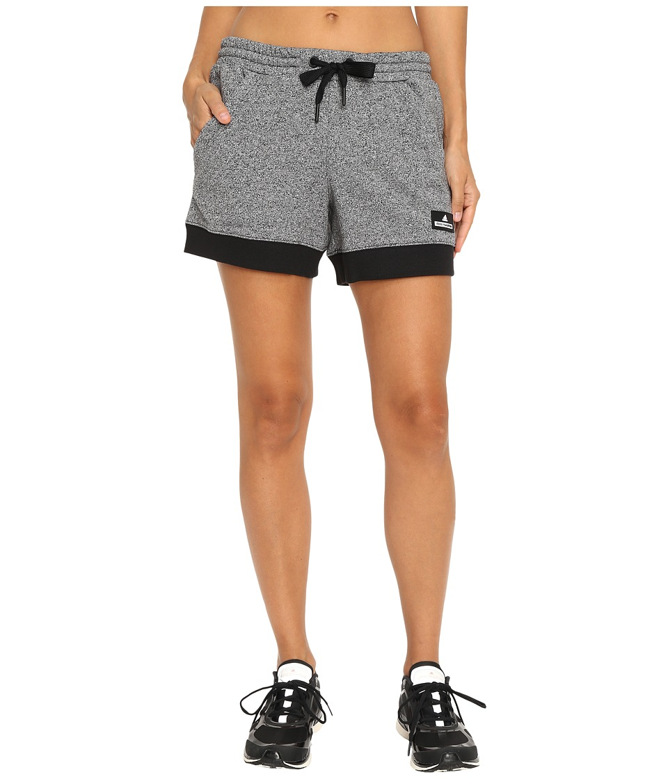 adidas by Stella McCartney - Essentials Knit Shorts AX7090 (Black/White Melange) Women's Shorts