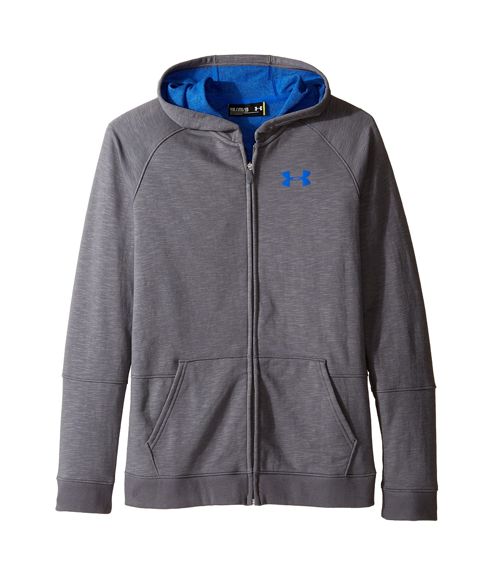 Under Armour Kids - Select Full Zip Hoodie (Big Kids) (Graphite Medium Heather) Boy's Sweatshirt