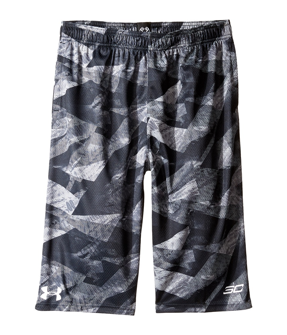 Under Armour Kids - Steph Curry 30 Essentials Print Shorts (Big Kids) (Island Blues) Boy's Shorts