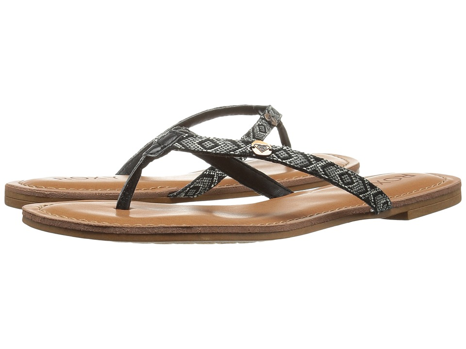 Roxy - Carmen (Black/White) Women's Sandals