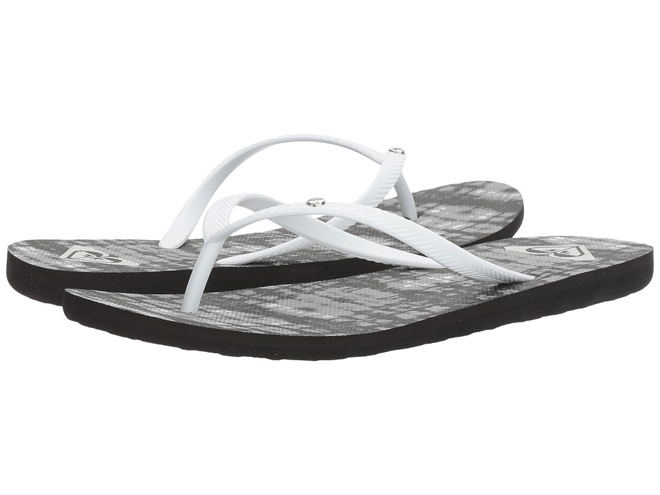Roxy - Bermuda (Black/White/Black) Women's Sandals