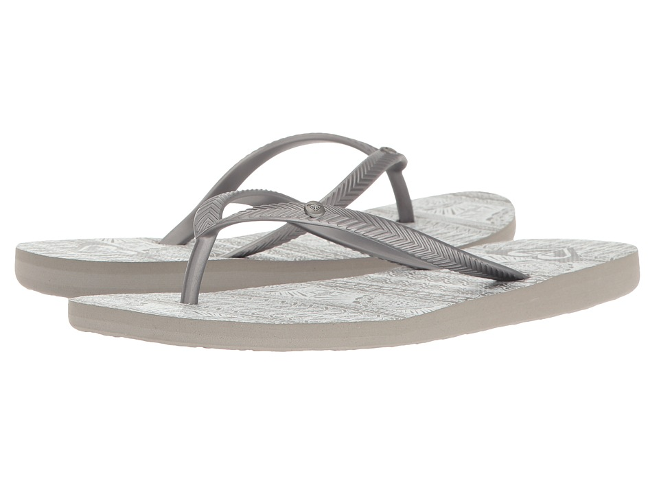 Roxy - Bermuda (Grey/White) Women's Sandals