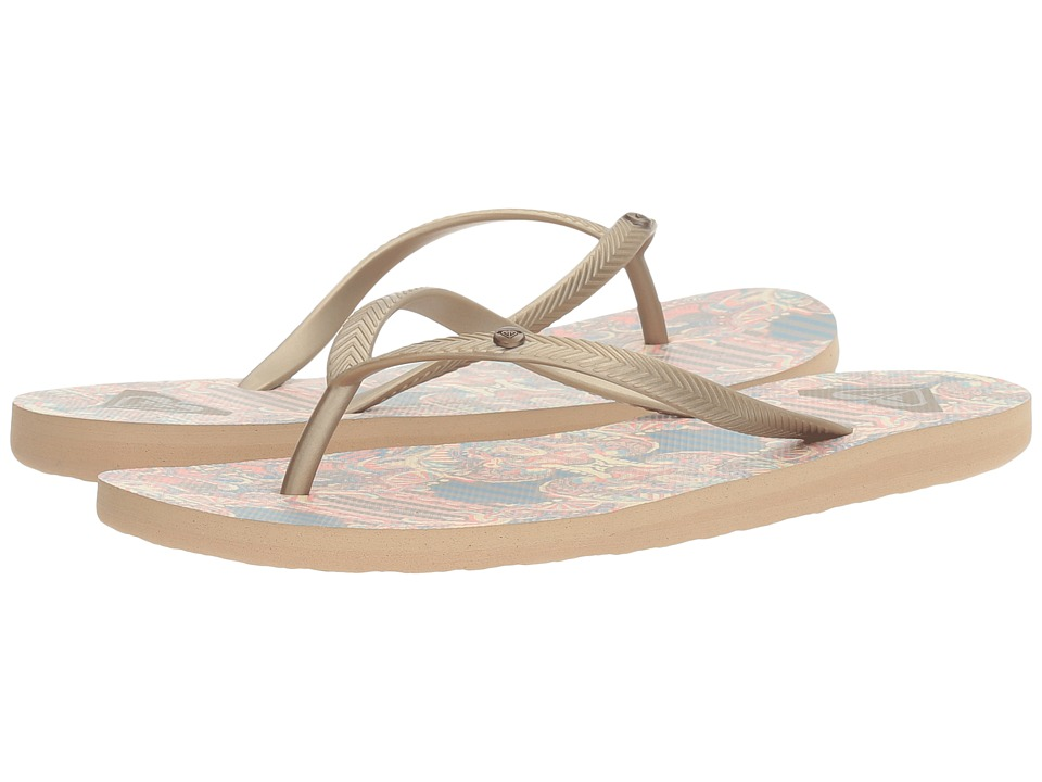 Roxy - Bermuda (Gold/Estate Blue) Women's Sandals