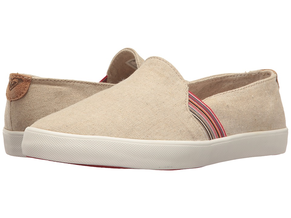 Roxy - Atlanta (Natural) Women's Slip on Shoes
