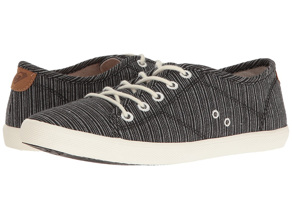 Roxy - Memphis (Black/White) Women's Lace up casual Shoes