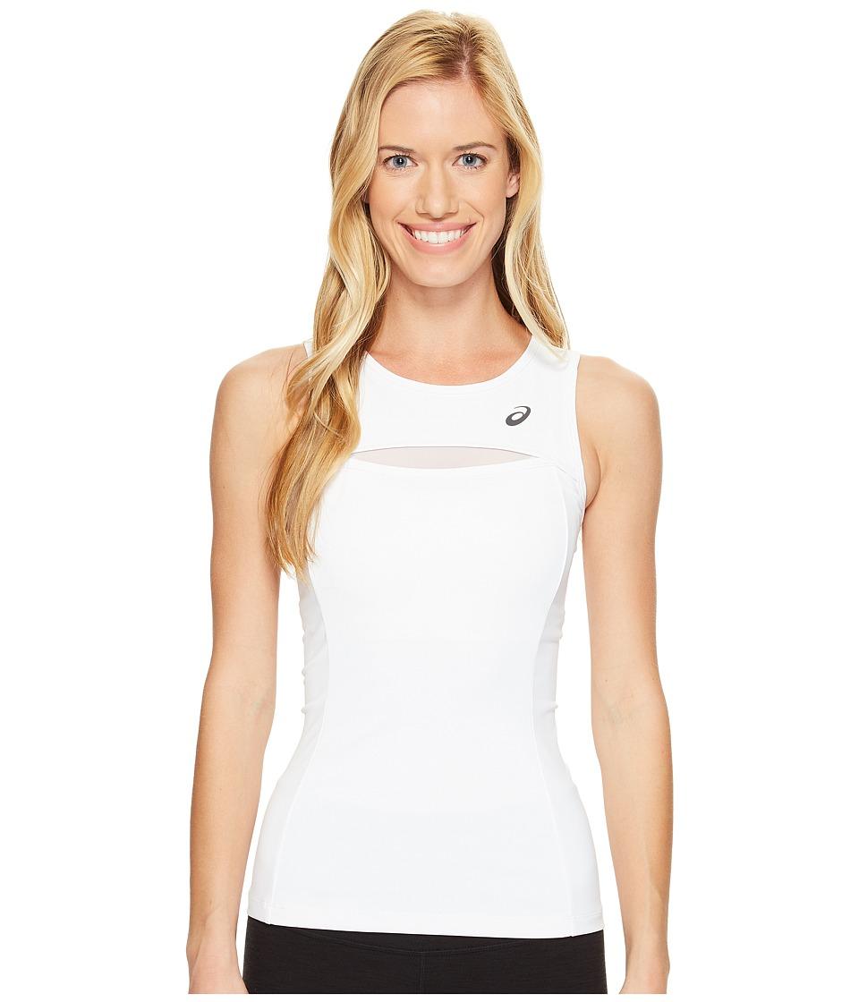 ASICS - Tennis Club Tank Top (Real White) Women's Sleeveless