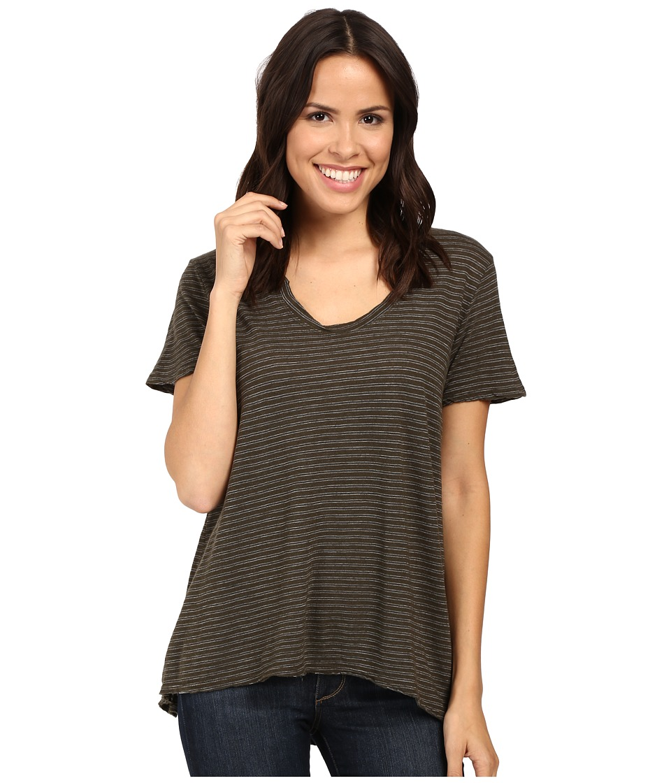 Project Social T - Striped Easy Tee (Army) Women's T Shirt