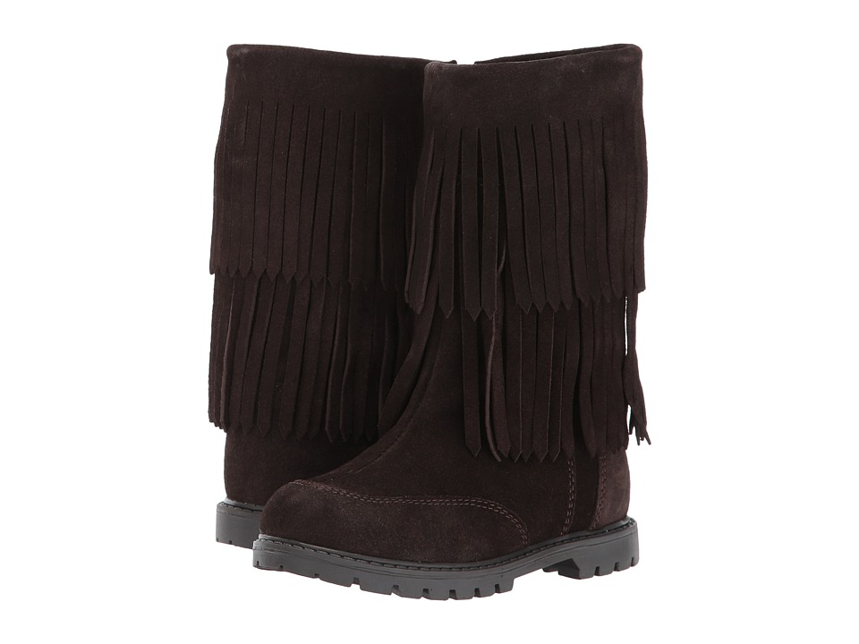 Roper Kids Fringe Moc (Toddler/Little Kid) (Brown Suede Vamp Shaft) Cowboy Boots