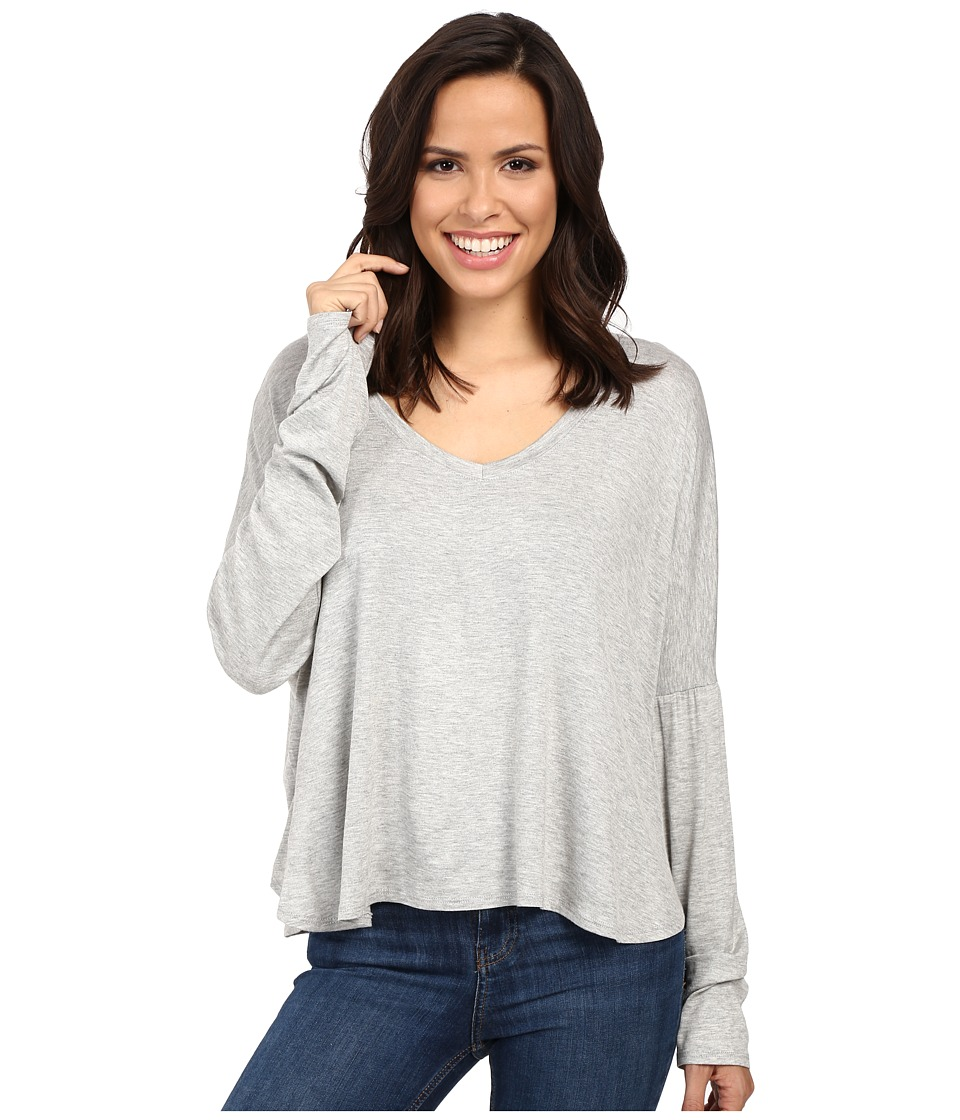 Project Social T - Marley Long Sleeve (Heather Grey) Women's Clothing