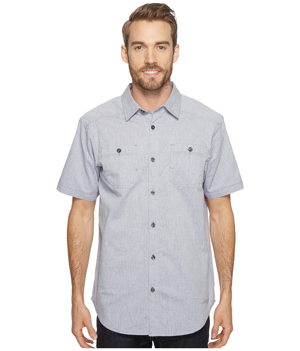 Columbia - Sage Butte Short Sleeve Shirt (Granite Purple Stripe) Men's Short Sleeve Button Up