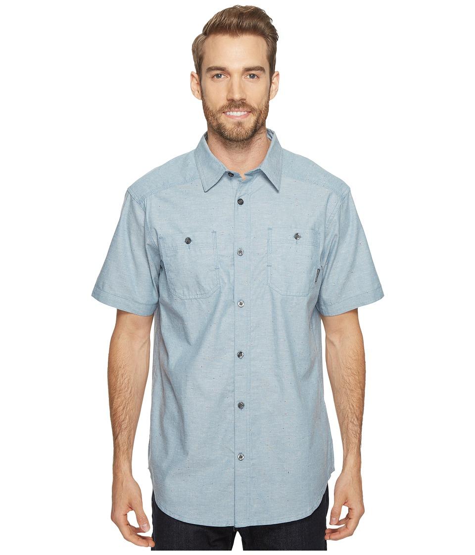 Columbia - Sage Butte Short Sleeve Shirt (Steel Neps) Men's Short Sleeve Button Up
