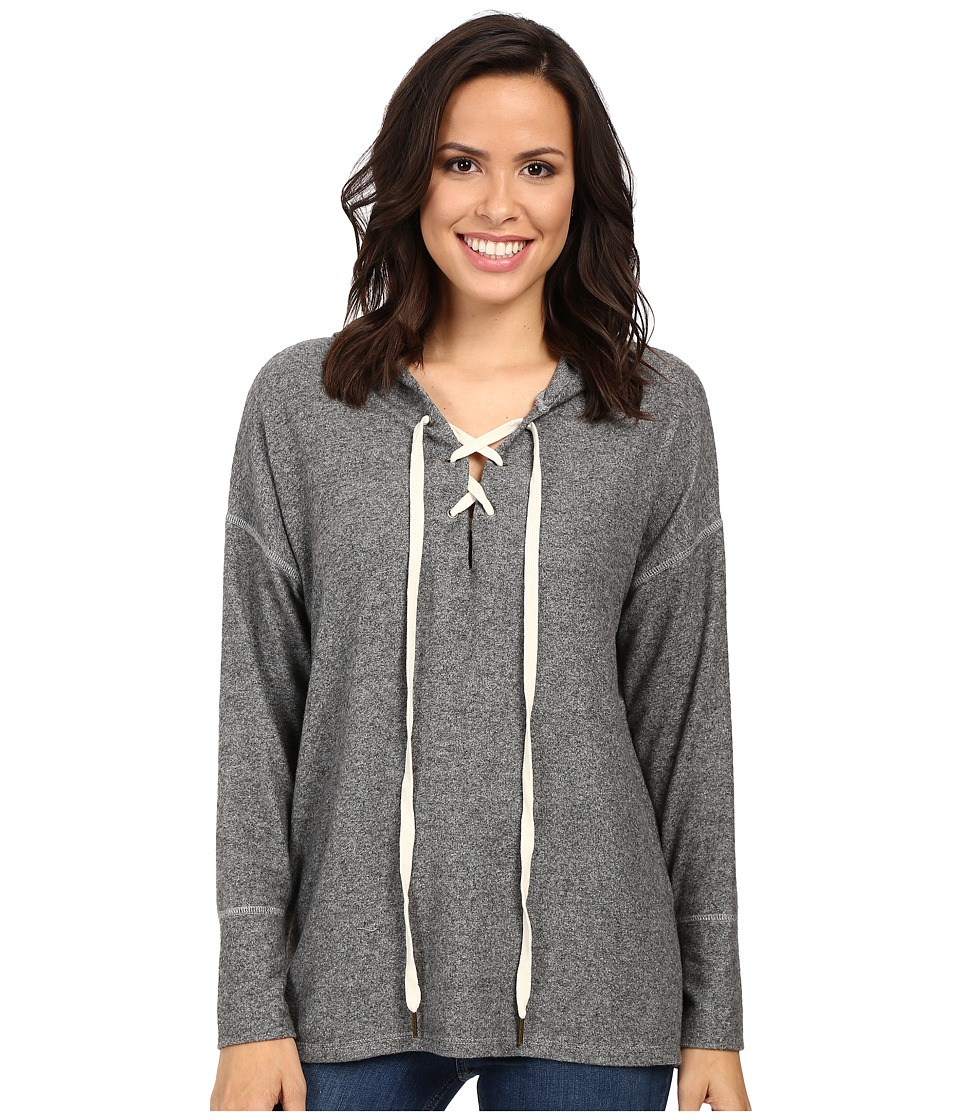 Project Social T - Cross My Heart Hoodie (Heather Grey) Women's Sweatshirt