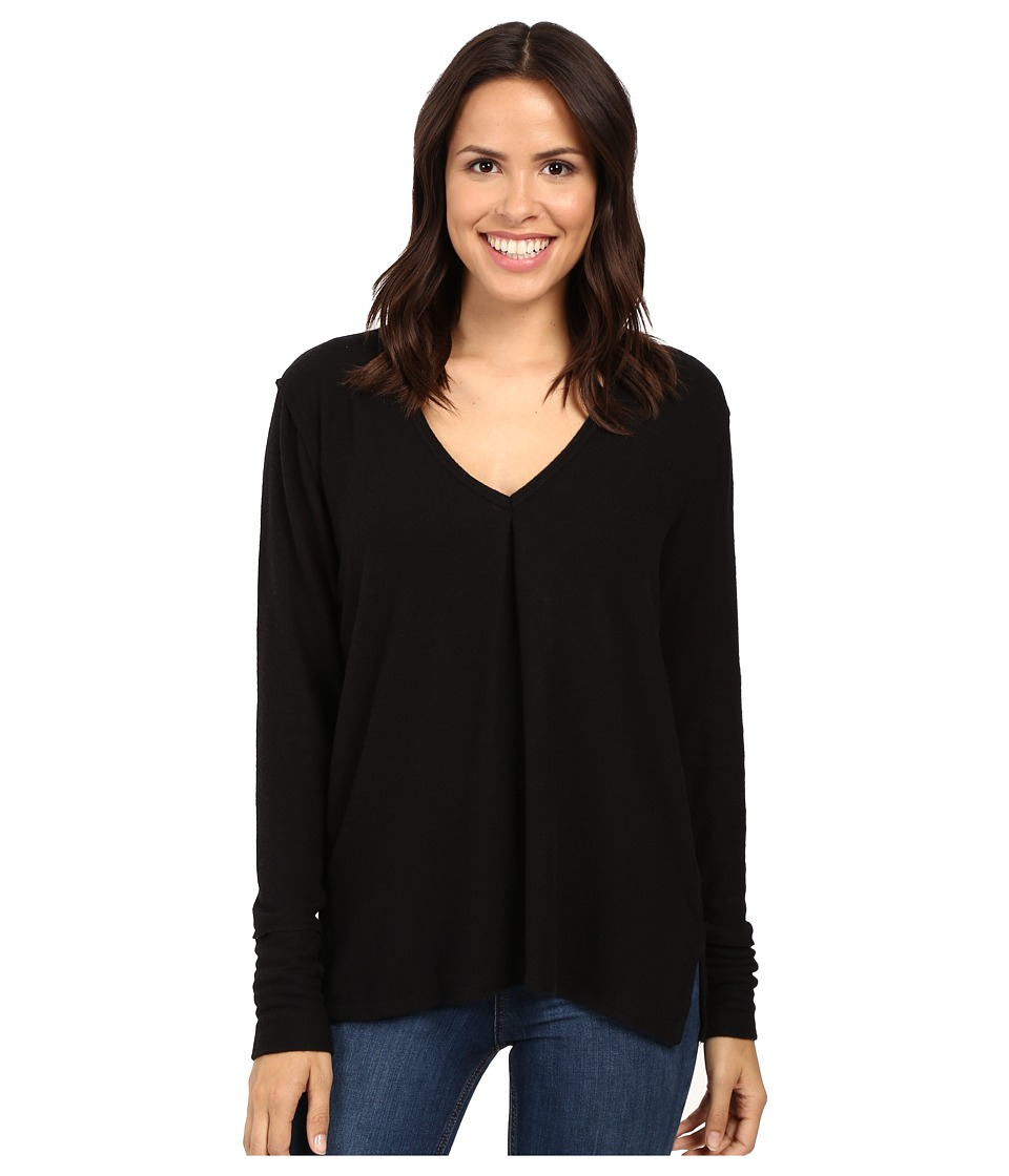 Project Social T - Kinley Front Tuck Long Sleeve (Black) Women's Clothing