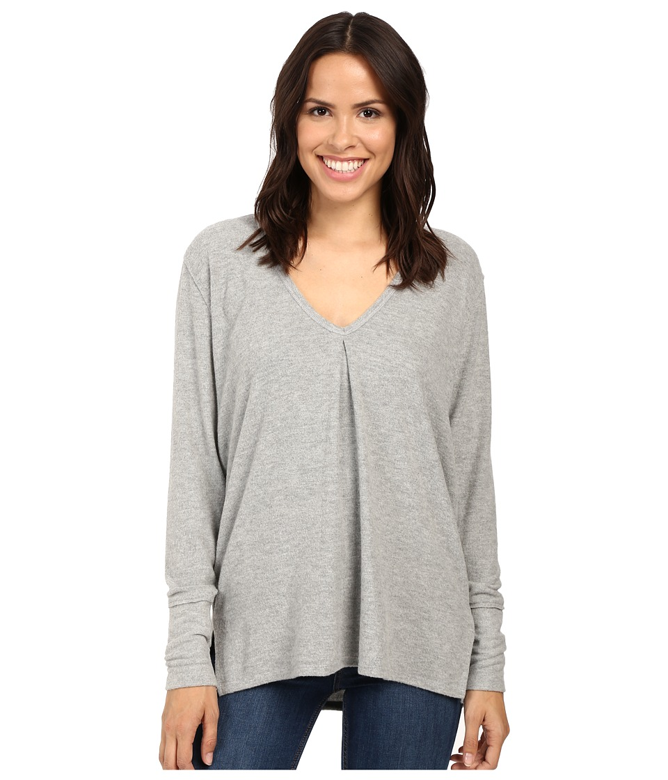 Project Social T - Kinley Front Tuck Long Sleeve (Grey) Women's Clothing