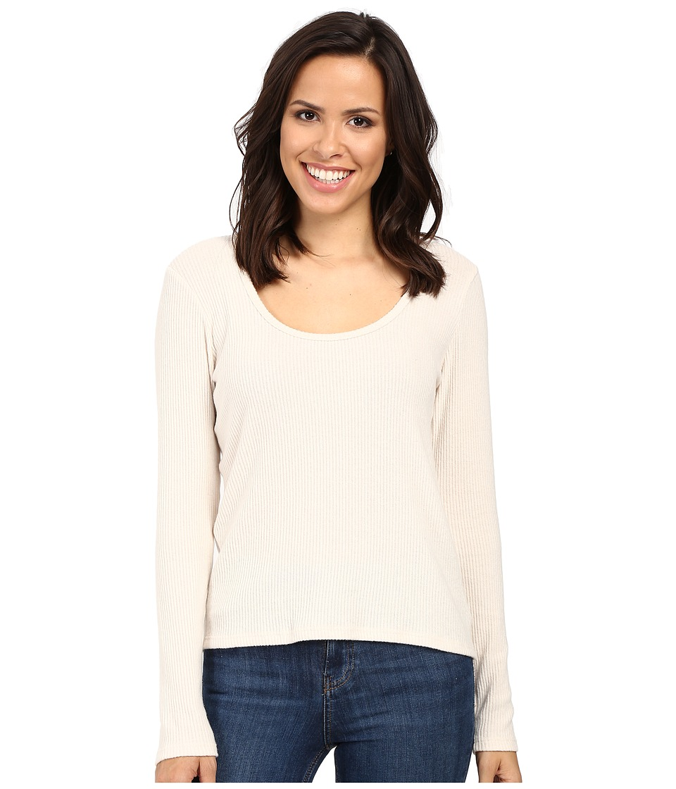 Project Social T - Fuzzy Rib Deep Scoop (Ivory) Women's Clothing