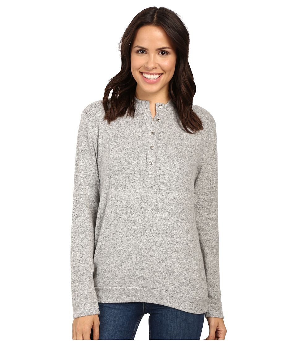 Project Social T - Off Duty Henley (Heather Grey) Women's Clothing