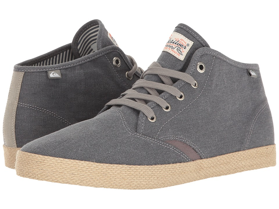Quiksilver - Shorebreak Mid ESP (Grey/Grey/Grey) Men's Skate Shoes