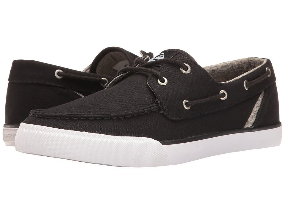 Quiksilver - Spar (Black/Black/White) Men's Skate Shoes