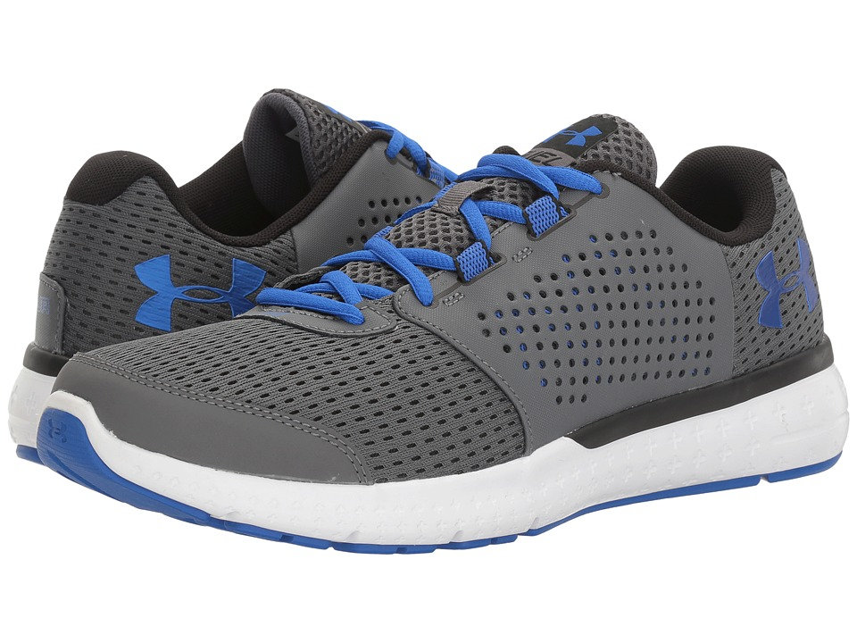 Under Armour - UA Micro G Fuel RN (Rhino Gray/White/Ultra Blue) Men's Running Shoes