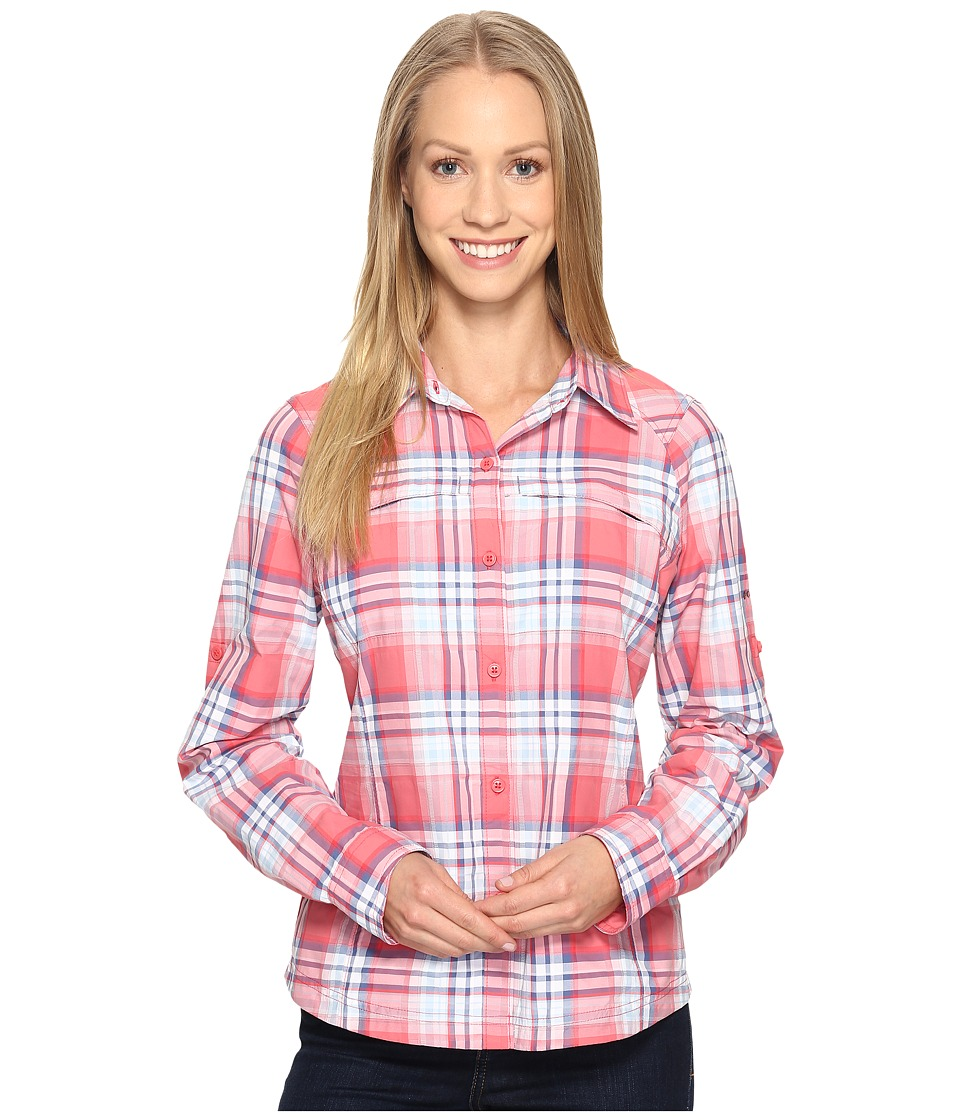 Columbia - Silver Ridgetm Plaid L/S (Red Camelia Dobby Plaid) Women's Long Sleeve Button Up